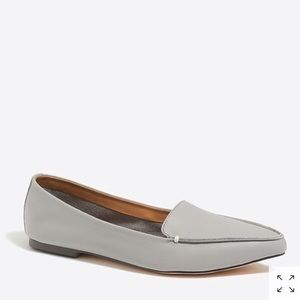 J. Crew Leather Pointed Slip On Loafer Flats